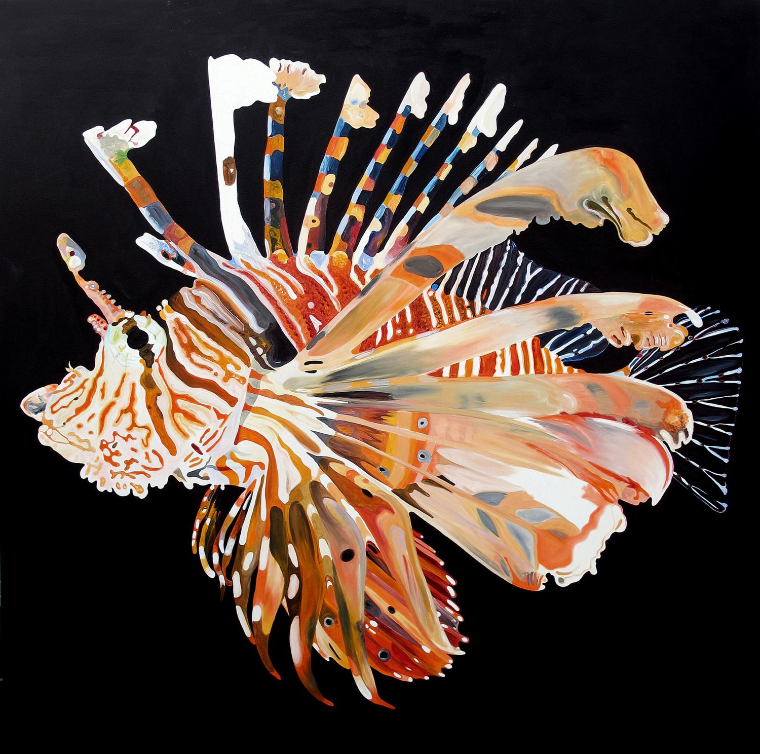 The Lion Fish · Acrílico sobre tela · 200 x 200 cm · 2013