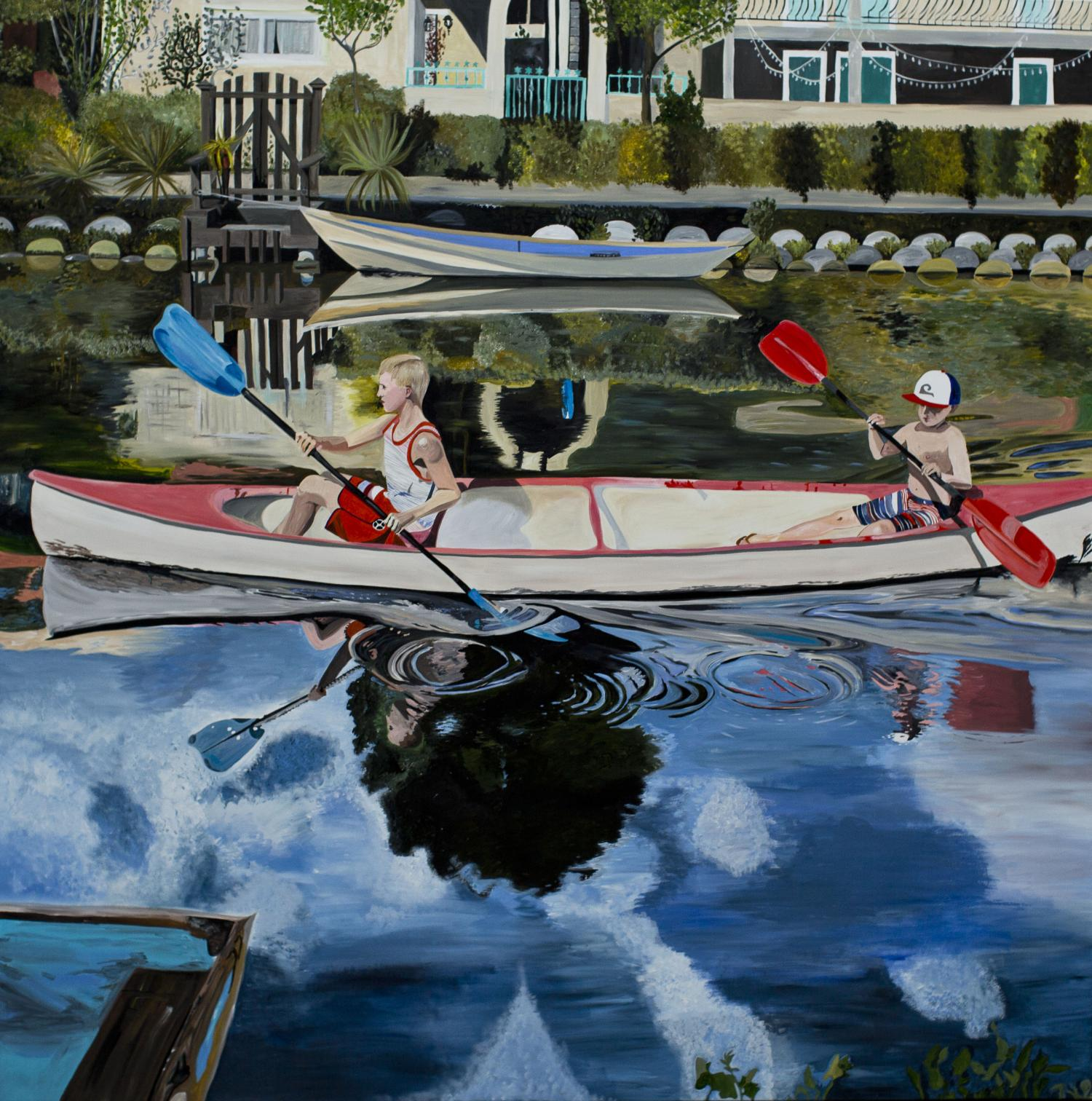 Rowing in Venice ·200 x 200 cm · 2017